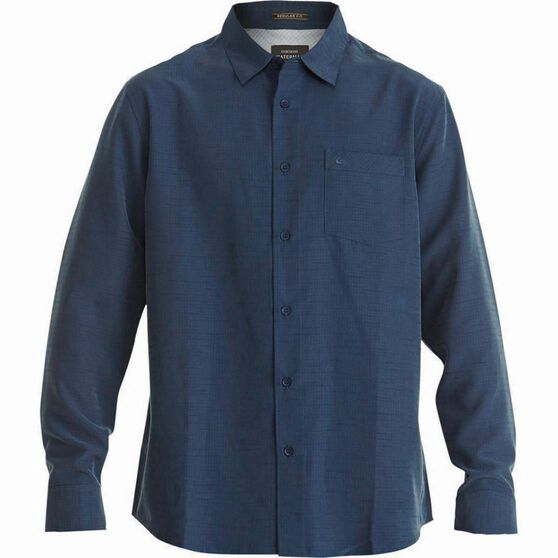 Quiksilver Men's Centinela Regular Fit Long Sleeve Shirt, Parisian Night, bcf_hi-res