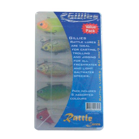 Gillies Rattle Lure Kit 5 Pack, , bcf_hi-res