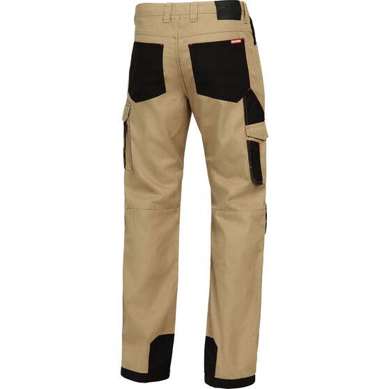 Hard Yakka Men's Xtreme Y02210 Cargo Pants Khaki / Black 102R, Khaki / Black, bcf_hi-res