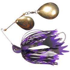 Bassman Codman Spinner Bait Lure 1 / 2oz Black / Purple, Black / Purple, bcf_hi-res