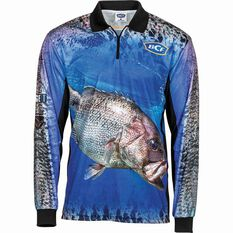 BCF Men's Dhufish Sublimated Polo Blue S, Blue, bcf_hi-res