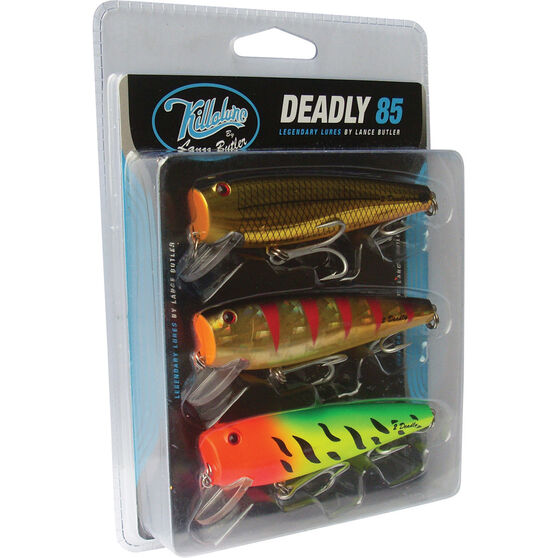Killalure 2Deadly By Lance Butler Hard Body Lure 85mm 3 Pack 85mm 3 Pack, , bcf_hi-res