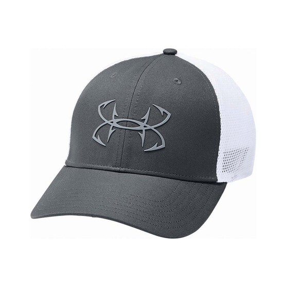 Under Armour Mens Fish Hunter Cap, Pitch Grey / White, bcf_hi-res