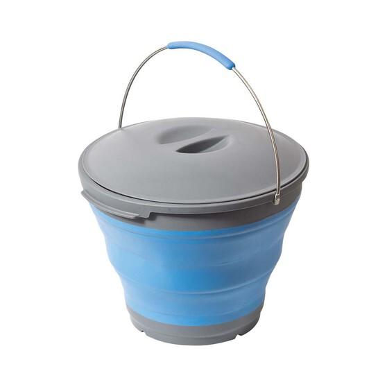 Companion 9L Pop Up Bucket With Lid, , bcf_hi-res