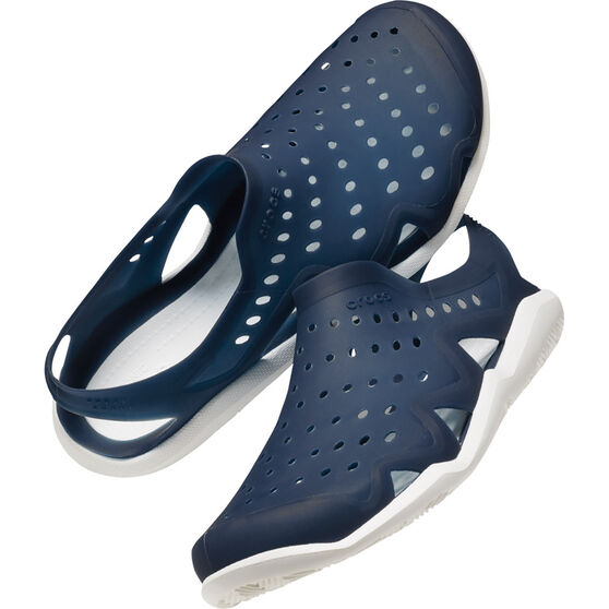 Crocs Men's Swiftwater Wave Navy / White US 11, Navy / White, bcf_hi-res