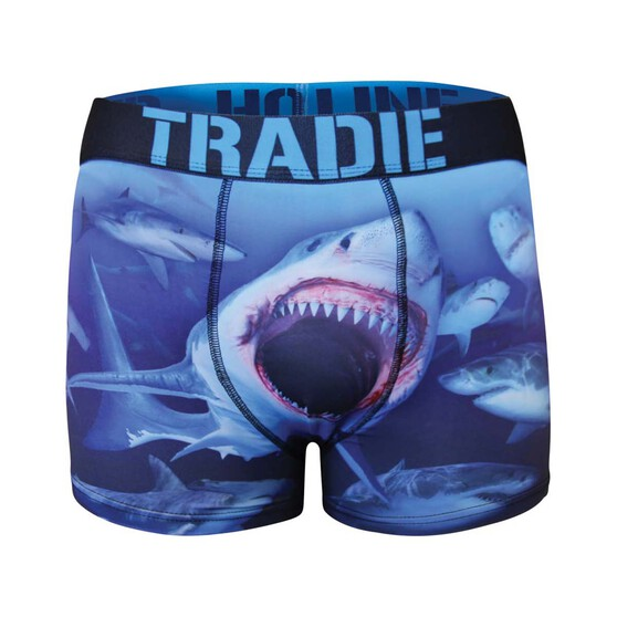 Tradie Men's Swimming With Sharks Trunk, Print, bcf_hi-res