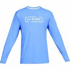 Under Armour Men's Sublimated Isochill Shore Break Long Sleeve T Shirt Carolina Blue S, Carolina Blue, bcf_hi-res
