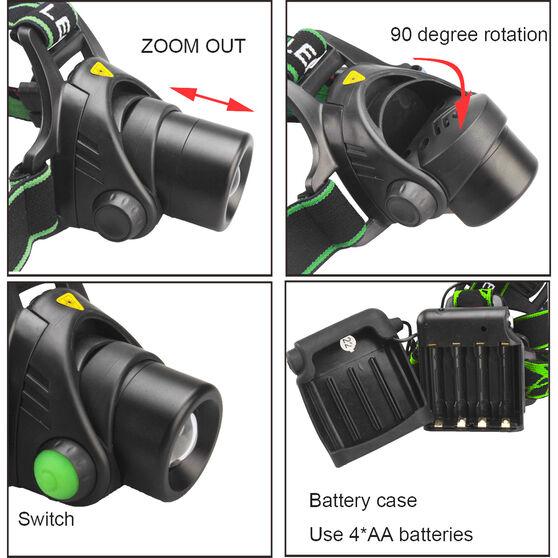 Korr Cree LED Zoom Headlamp 10W, , bcf_hi-res
