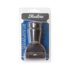 Blueline 7 Pin Trailer Adaptor - Small, Round Socket to Flat Plug, , bcf_hi-res