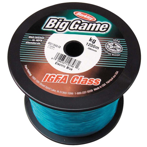 Berkley Big Game Mono Line 1200m Blue 1200m 24kg, Blue, bcf_hi-res