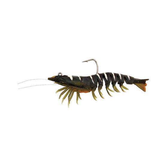 Zerek Absolute Shrimp Soft Plastic Lure 4.5in Green Tiger, Green Tiger, bcf_hi-res