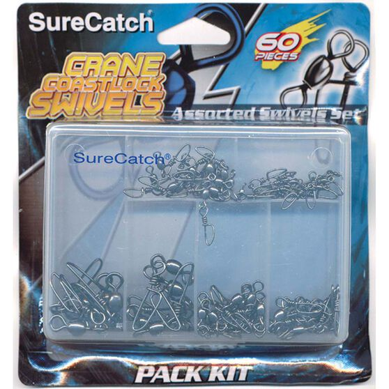Surecatch Assorted Swivels 60 Pack, , bcf_hi-res