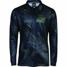 The Mad Hueys Men's Offshore Division Camo Fishing Jersey Black S, Black, bcf_hi-res
