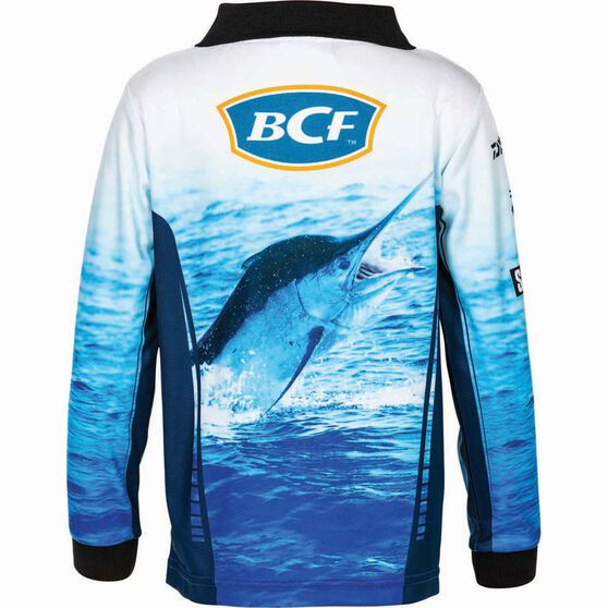 BCF Kids' Marlin Sublimated Polo Blue 5, Blue, bcf_hi-res