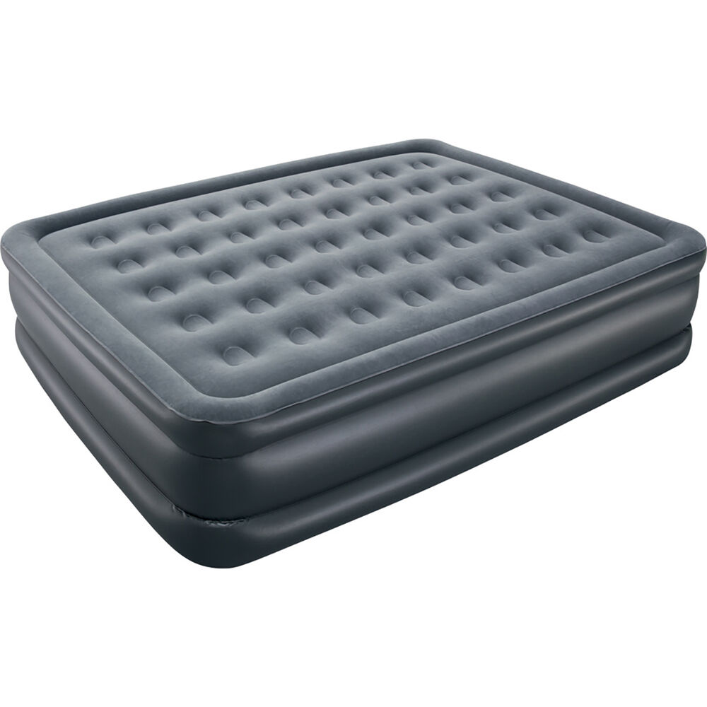 double high velour airbed with pump queen 240v bcf. Black Bedroom Furniture Sets. Home Design Ideas