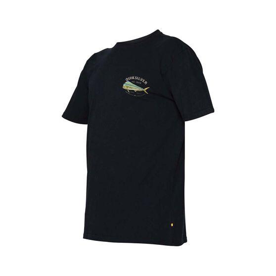 Quiksilver Waterman Men's Kaona Short Sleeve Tee, Black, bcf_hi-res