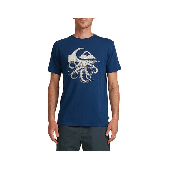 Quiksilver Waterman Men's Imaginary Seas Tee, Ensign Blue, bcf_hi-res