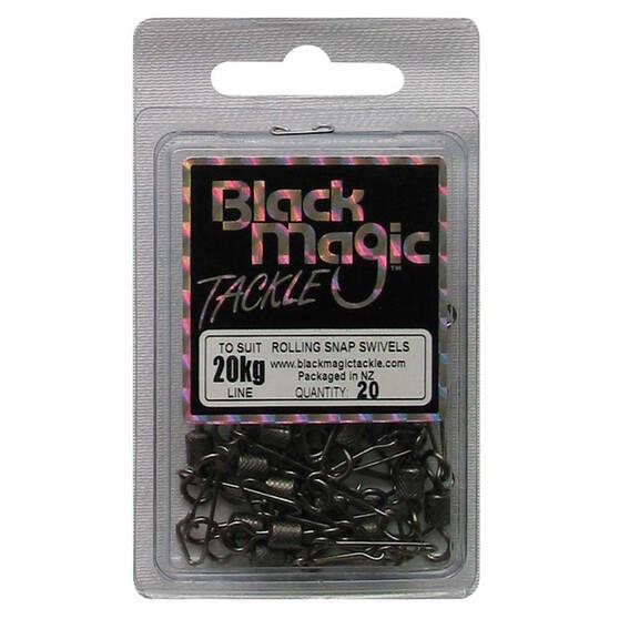 Black Magic Rolling Snap Swivel 20 Pack, , bcf_hi-res