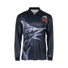 The Great Northern Brewing Co. Men's Sublimated Polo Black S, Black, bcf_hi-res