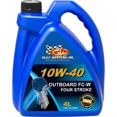 Gulf Western Outboard Fc-W Semi-Syn Four Stroke 10W-40 4L - 60482, , bcf_hi-res