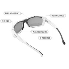 Hobie Men's Baja Sunglasses Satin Black / Grey Lens, Satin Black / Grey Lens, bcf_hi-res