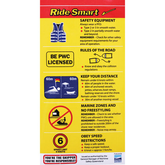 BLA Ride Smart Boat Sticker, , bcf_hi-res