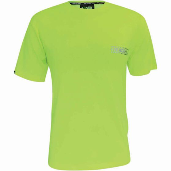Tradie Men's Hi-Vis Shirt, Yellow Fluoro, bcf_hi-res