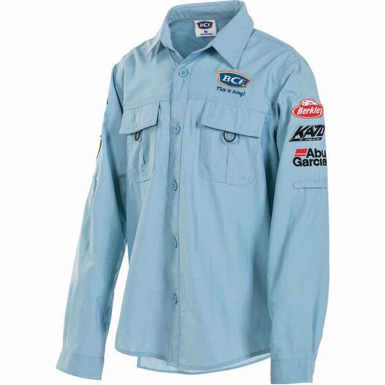 BCF Kids' Long Sleeve Fishing Shirt Spray 12, Spray, bcf_hi-res