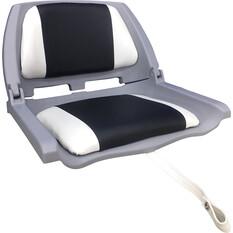 Bowline Padded Folding Tinnie Seat Grey, Grey, bcf_hi-res