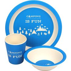 Wanderer Kids Camping Fun 3 Piece Meal Set, , bcf_hi-res