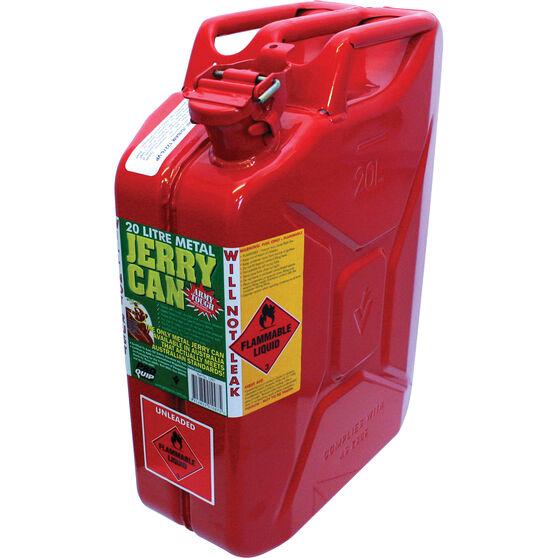 Metal Jerry Can - Petrol, 20 Litre, , bcf_hi-res
