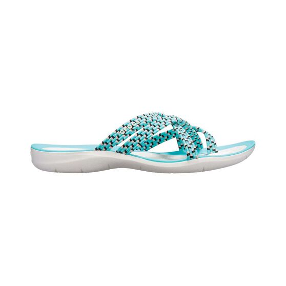 Crocs Braided Swiftwater Flip - Womens, Pool/White, 6, , bcf_hi-res