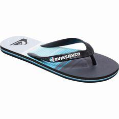 Quiksilver Men's Molokai Highline Slab Thongs Black / Blue / Grey 8 Men's, Black / Blue / Grey, bcf_hi-res