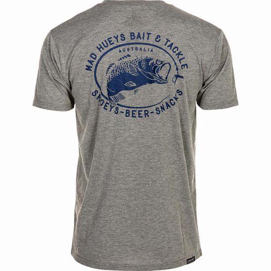 The Mad Hueys Men's Bait and Tackle UV Tee Grey / Blue XL, Grey / Blue, bcf_hi-res