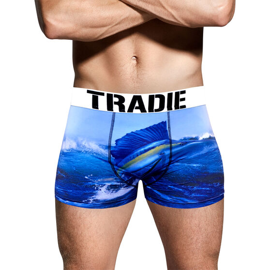 Tradie Men's Sail Fish Trunks, Sail Fish, bcf_hi-res