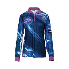 BCF Women's Jellyfish Sublimated Polo Blue 8, Blue, bcf_hi-res