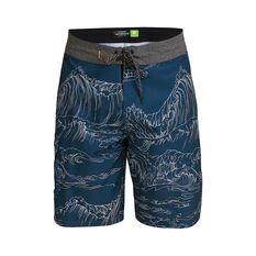 Quiksilver Waterman Men's Angler Print Boardshorts Midnight Blue 32, Midnight Blue, bcf_hi-res