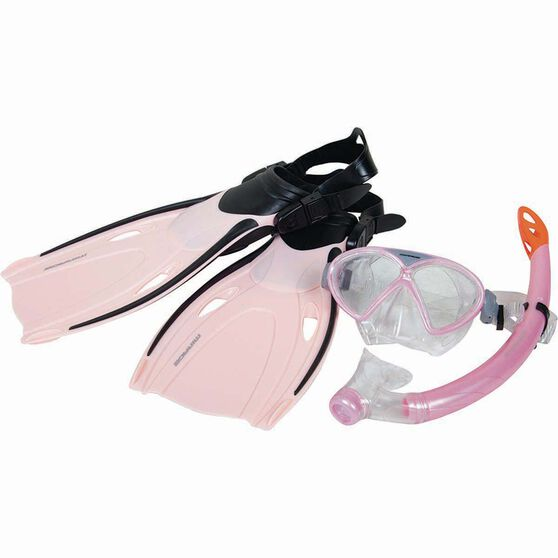 Mirage Junior Comet Snorkelling Set Pink L, Pink, bcf_hi-res