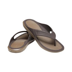 Crocs Men's Swiftwater Sandals, Espresso / Walnut, bcf_hi-res