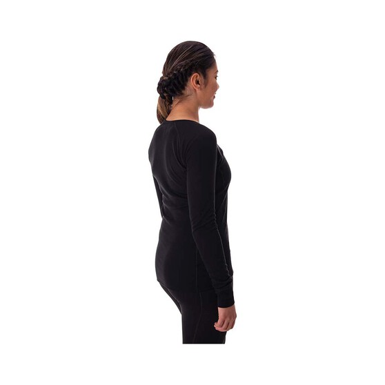 Macpac Women's Geothermal Long Sleeve, Black, bcf_hi-res