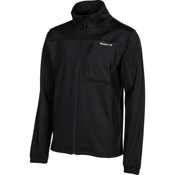 Shimano Men's Marlin Soft-Shell Jacket, Black, bcf_hi-res