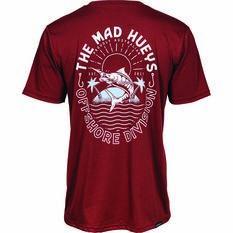 The Mad Hueys Men's Can Crusher Short Sleeve UV Tee, Maroon, bcf_hi-res