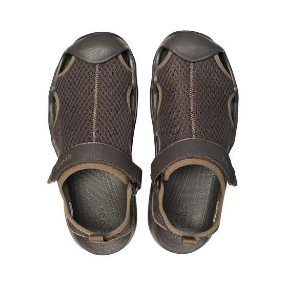 Crocs Mens Swiftwater Sandal, Espresso, bcf_hi-res