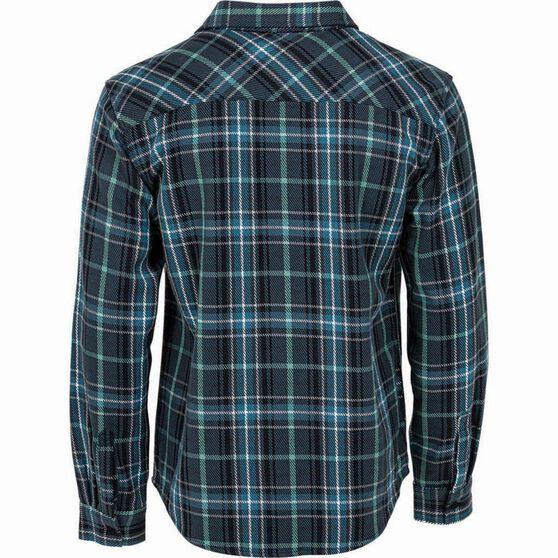 National Geographic Twill Long Sleeve Shirt, Navy Check, bcf_hi-res
