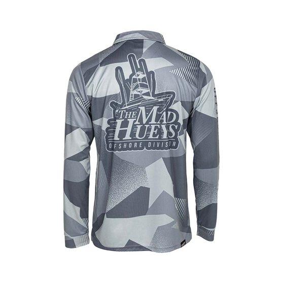The Mad Hueys Men's Hammerhead Fishing Jersey, Grey, bcf_hi-res