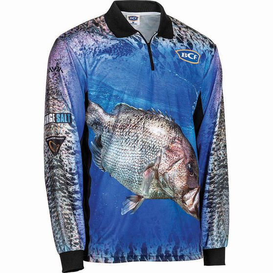 BCF Men's Dhufish Sublimated Polo Blue L, Blue, bcf_hi-res