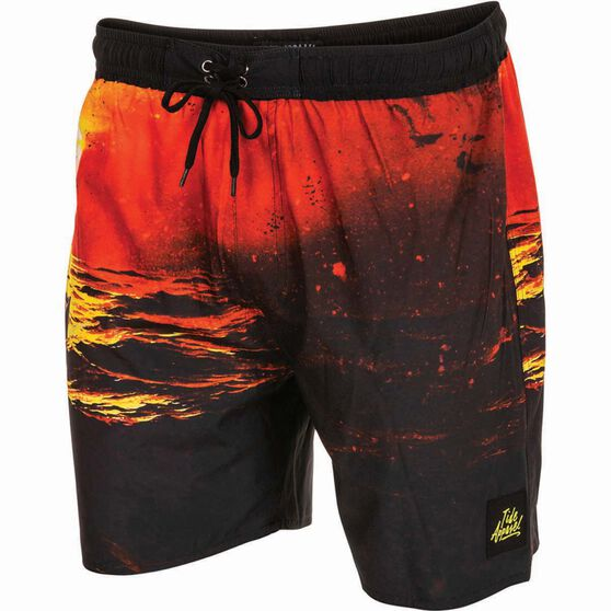 Tide Apparel Men's Sunset Boardshorts, Multi Print, bcf_hi-res