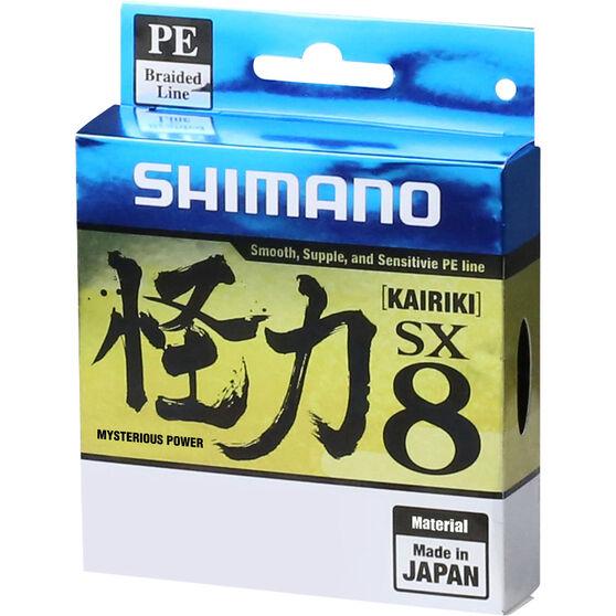 Shimano Kairiki SX 8 Green Braid Line 300m 80lb, , bcf_hi-res
