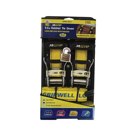 Gripwell Ratchet Tie Down - 4.5m, 600kg, 2 Pack, , bcf_hi-res