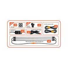 Korr Orange/White LED Camp Light Kit with Diffuser, , bcf_hi-res